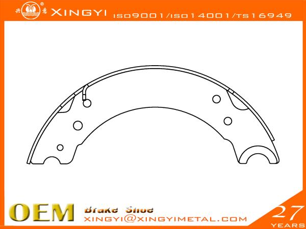 BPW-704001-220-Brake Shoe