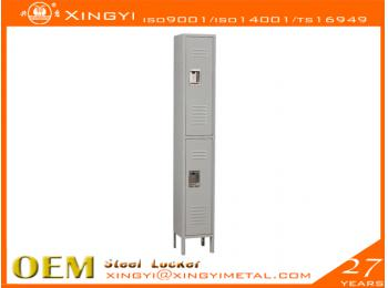 Standard Steel Locker Double Tier Gray