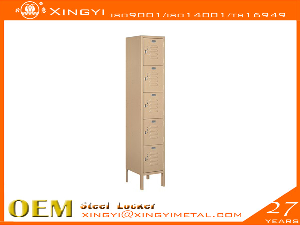 Economic Steel Locker Five Tier Box Style Tan