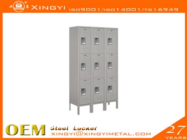 Standard Steel Locker Triple Tier Gray