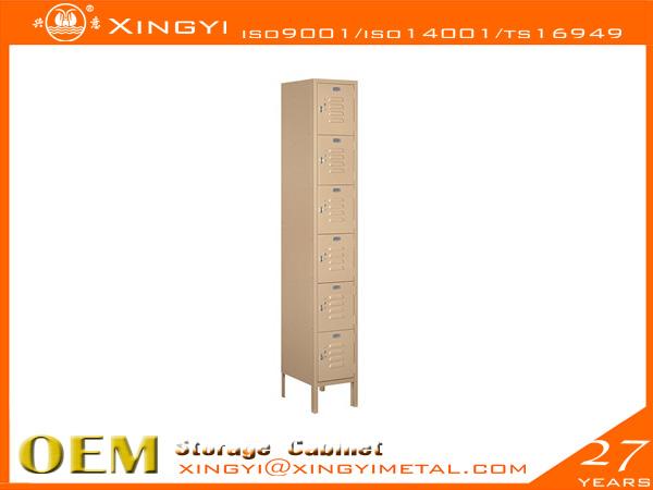 Economic Steel Locker Six Tier Box Style Tan