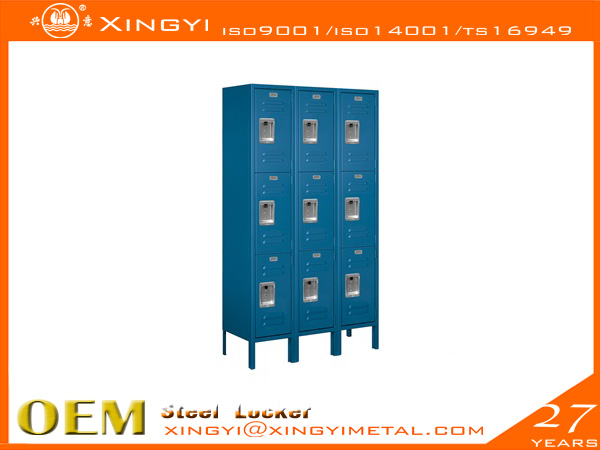 Standard Steel Locker Triple Tier Bule