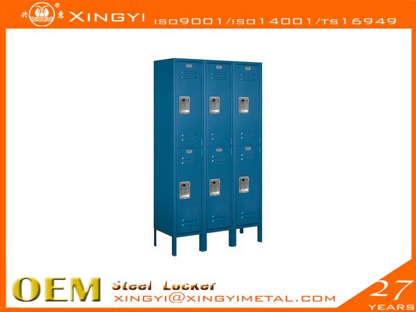 Standard Steel Locker Double Tier Blue