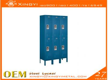 Standard Steel Locker Double Tier Blue