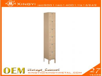 Economic Steel Locker Six Tier Box Style Tan